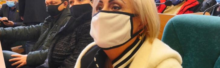 Штепа с пневмонией явилась на заседание горсовета Славянска