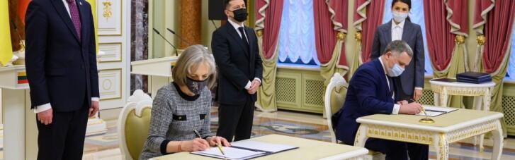 """Україна і Литва підписали Декларацію про європерспективу, а в ОП розкрили """"невелику таємницю"""" про Зеленського"""