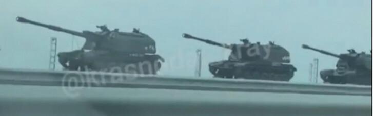 Жителі Кубані повідомляють про перекидання російської військової техніки в Крим (ФОТО)