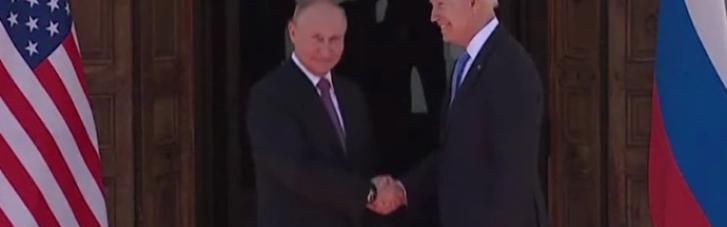 Встреча Байдена с Путиным в узком составе завершилась