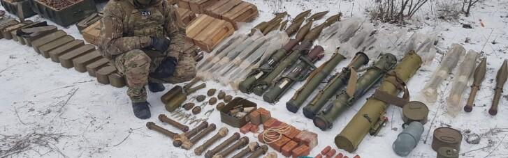 СБУ обнаружила еще один схрон боевиков на Луганщине (ФОТО)