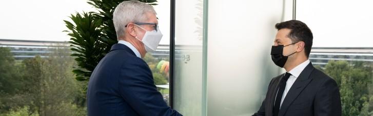 Зеленський зустрівся з главою Apple і похвалився IT-хабом