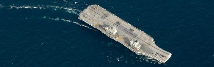 Российская военная субмарина следила за британским авианосцем в Средиземном море