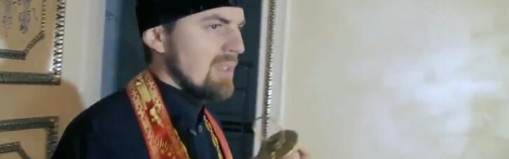 Столичную квартиру Януковича освятил священник