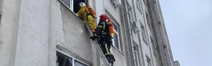 В Ровно в здании ОГА произошел пожар