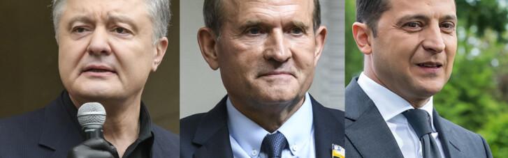 Сюрпризы партийных рейтингов. Как Порошенко, Зеленский и Медведчук поделят страну