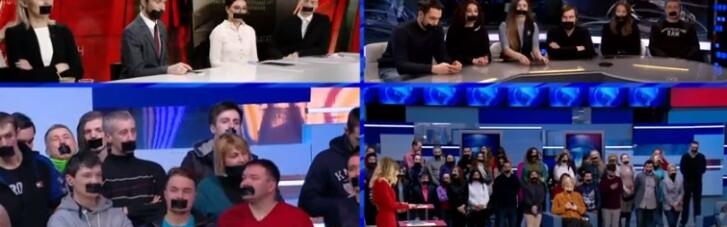 """БДСМ-ігри зрадників: в соцмережі висміяли мовчазний протест """"журналістів Медведчука"""""""