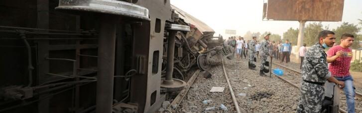 Аварія поїзда в Єгипті: 11 людей загинули, майже 100 отримали поранення (ФОТО)