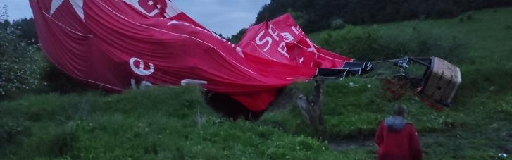 Біля Кам'янця-Подільського впала повітряна куля: є жертви (ФОТО, ВІДЕО)