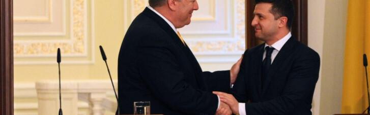 Импичмент Трампа, военная помощь Украине и инвестиции. О чем говорили Зеленский и Помпео в Киеве