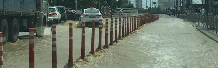 Через прорив біля Ocean Plaza міський транспорт змінив маршрут