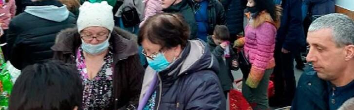 У Донецьку влаштували дику тисняву під час відкриття супермаркету (ФОТО, ВІДЕО)