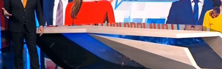 Пропагандистський телеміст з Росією на каналі Медведчука. Головне