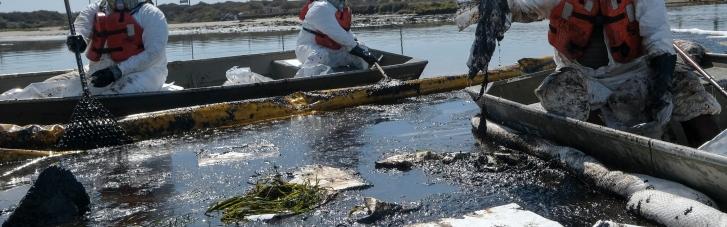 Экологическая катастрофа: разлив нефти у побережья Калифорнии