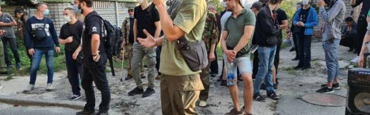 Ветераны АТО пикетировали особняк Медведчука с требованием запретить агентов Кремля