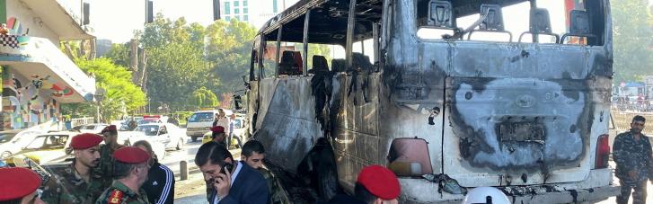 У Дамаску підірвався автобус з військовими: 14 загиблих (ВІДЕО)