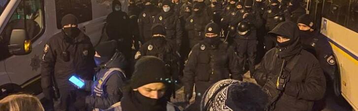 Прихильники Стерненка збираються під ОПУ, поліція не пускає активістів (ВІДЕО)