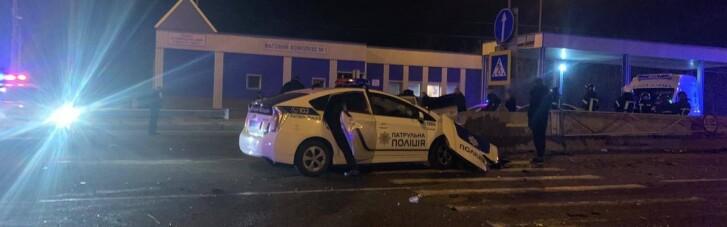 На Одесчине полицейское авто попало в ДТП, погиб один человек (ФОТО)