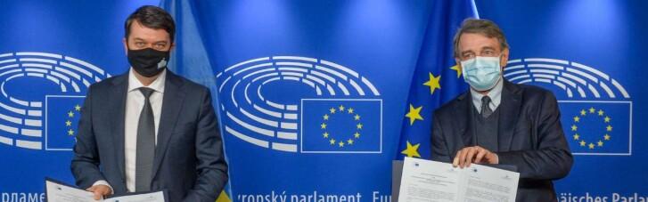 Разумков призвал главу Европарламента помочь с резолюцией по Крыму