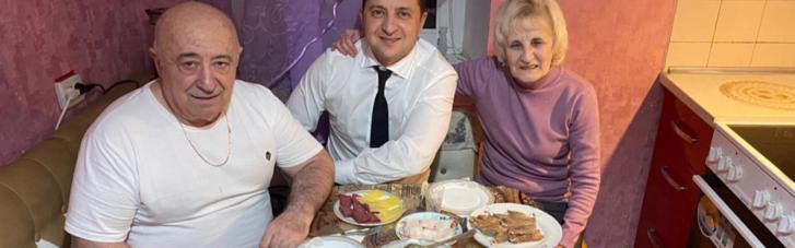 """""""На кухні, за чаркою, поки мама відійшла"""": Зеленський привітав свого батька"""