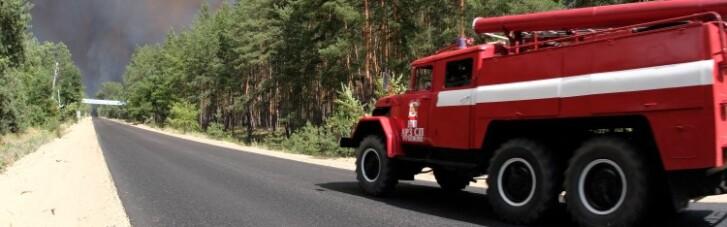 На Луганщині через обстріл знову горить ліс