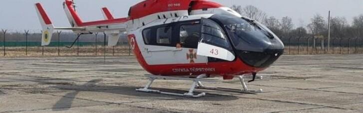 Аеромедицина в Україні: на Львівщині вертольотом евакуювали першу пацієнтку