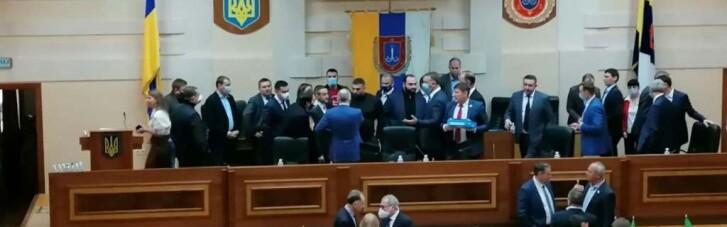 Снова драки: Одесский облсовет собрался на вторую сессию (ФОТО, ВИДЕО)
