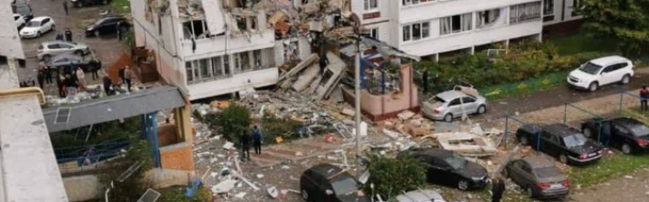 Внаслідок потужного вибуху в Підмосков'ї обвалилася житлова багатоповерхівка (ВІДЕО)