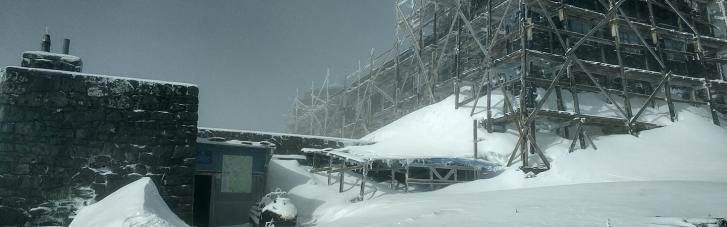 Ночью в Карпатах выпало до 20 см снега (ФОТО)