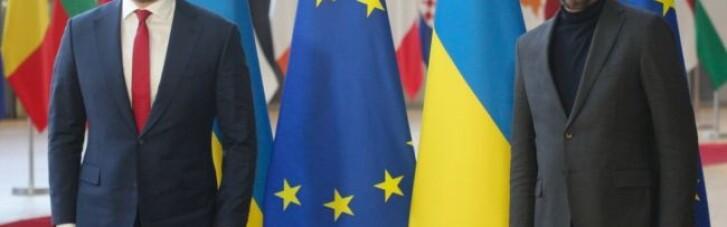 Шмигаль в Брюсселі обговорив з президентом Євроради асоціацію України з ЄС