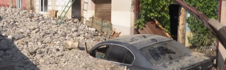 В Крыму после потопа целый поселок завалило грудой камней (ФОТО, ВИДЕО)