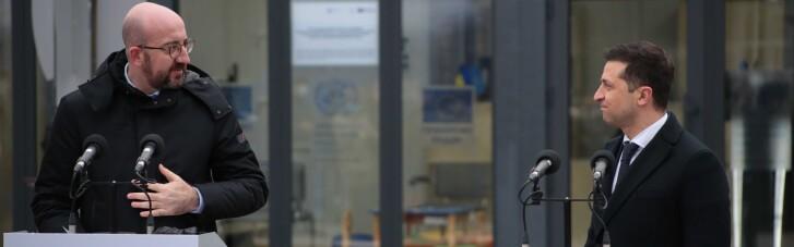 """""""Реальность, за которую стыдно"""": Зеленский повез главу Евросовета на КПП """"Счастье"""""""