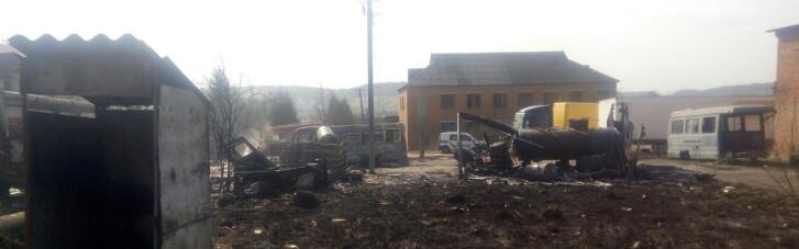 На Львівщині через випалювання сухої трави вщент згоріли три автобуси (ФОТО)