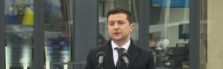 Зеленський розповів про деструктивну позицію Росії в питанні відкриття КПВВ на Донбасі