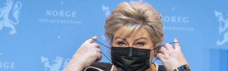 Премьеру Норвегии выписали штраф в почти 2 тыс. евро за нарушение карантина