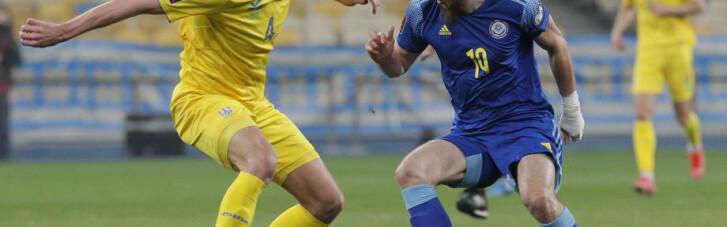 ЧМ-2022: Украина сенсационно потеряла очки в матче с Казахстаном