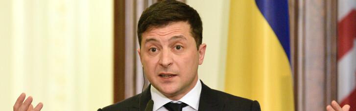 Зеленський наказав не піднімати президентський штандарт на Банковій, якщо він у від'їзді
