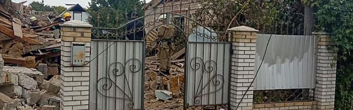 Вибух у Запорізькій області: двоповерховий будинок зруйнований вщент (ФОТО, ВІДЕО)