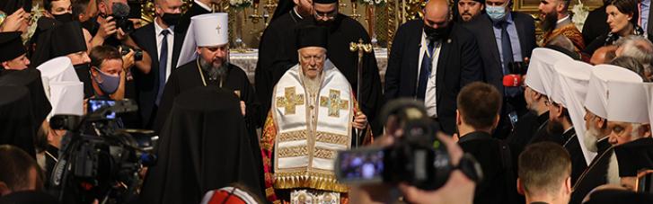В Михайловском соборе прошла благодарственная молитва с Варфоломеем (ФОТО, ВИДЕО)