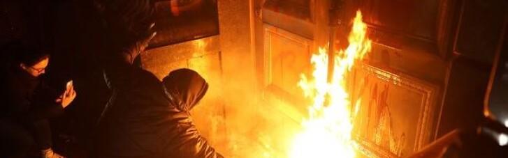 Выбивал стекла: задержанному в беспорядках на Банковой предъявлено обвинение (ВИДЕО)