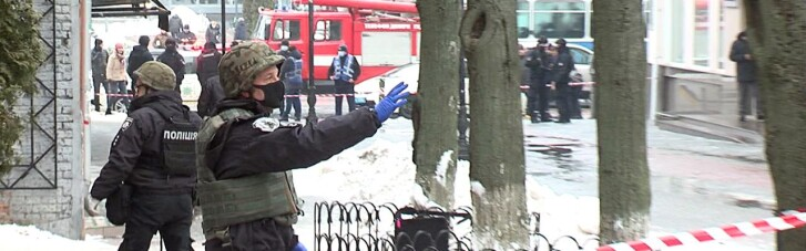 Мужчина в Виннице грозился подорвать магазин конфет (ФОТО, ВИДЕО)