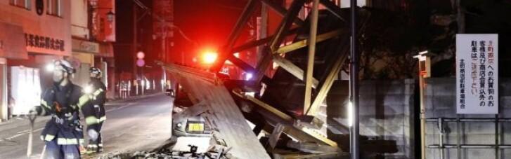 Последствия землетрясения в Японии: более сотни пострадавших, трассы и пути заблокированы (ФОТО)