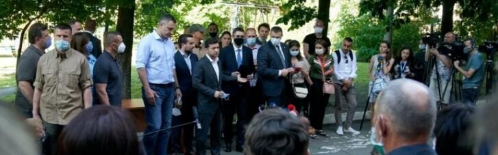 Кот в мешке. Что Зеленский подарил пострадавшим при взрыве на Позняках вместо квартир