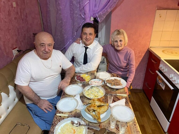 Володимир Зеленський з батьками в Кривому Розі
