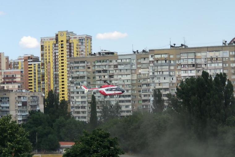 Гелікоптер МВС у Києві