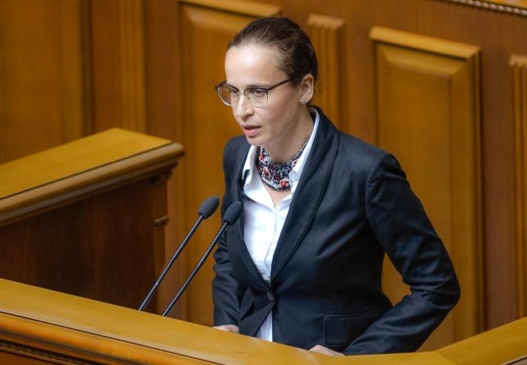 Юлія Клименко виступає під час засідання Верховної Ради