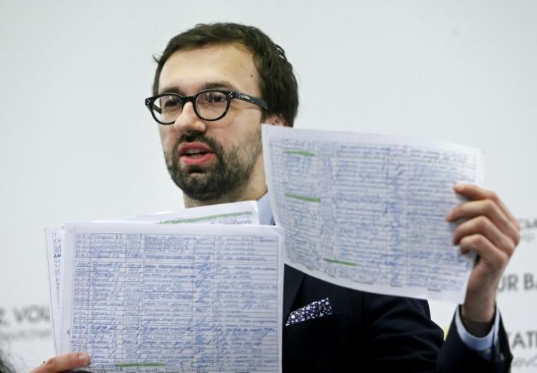Сергей Лещенко во время брифинга