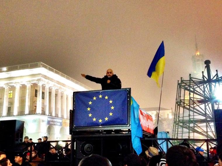 Найєм виступає на Евромайдане/Aleksandr Andreiko