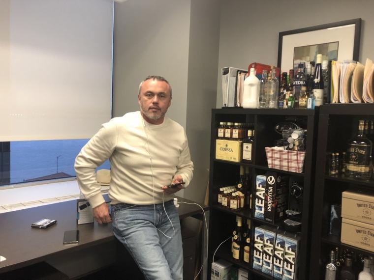 Євген Черняк в офісі компанія Global Spirits, поруч з Уолл-стріт/Ангеліна Кальцева