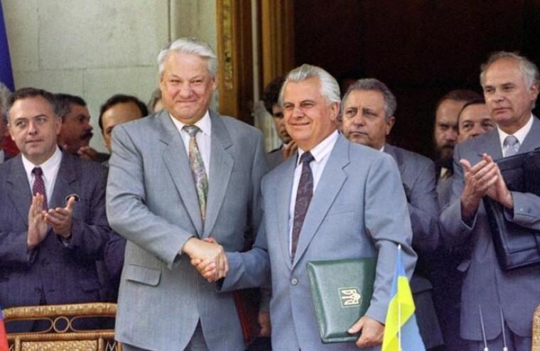Леонид Кравчук и Борис Ельцин